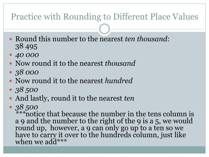 Practice with Rounding to Different Place Values