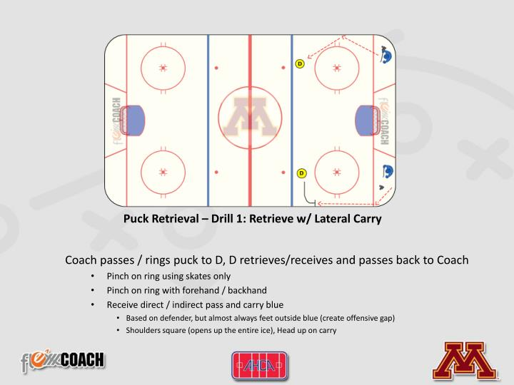 Puck Retrieval – Drill 1: Retrieve w/ Lateral Carry