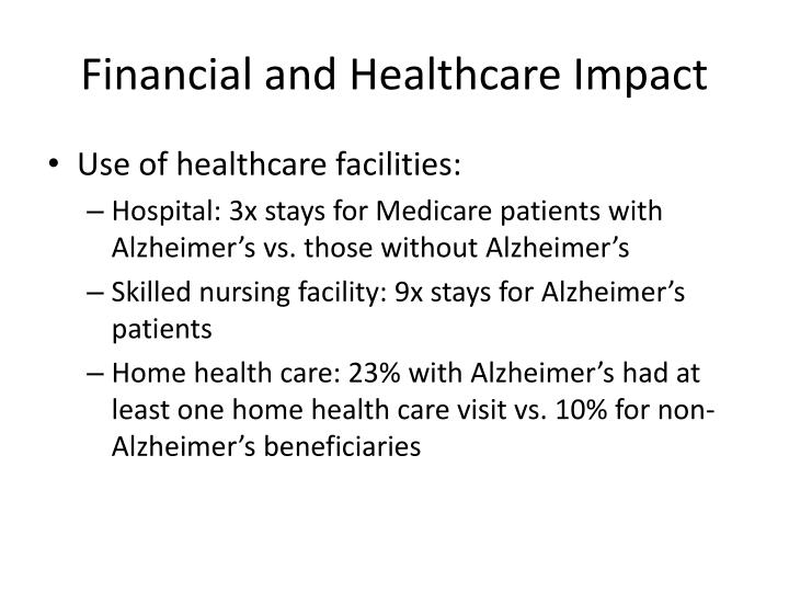 Financial and Healthcare Impact