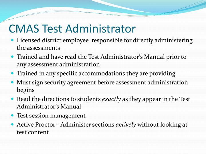 CMAS Test Administrator