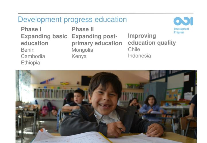 Development progress education