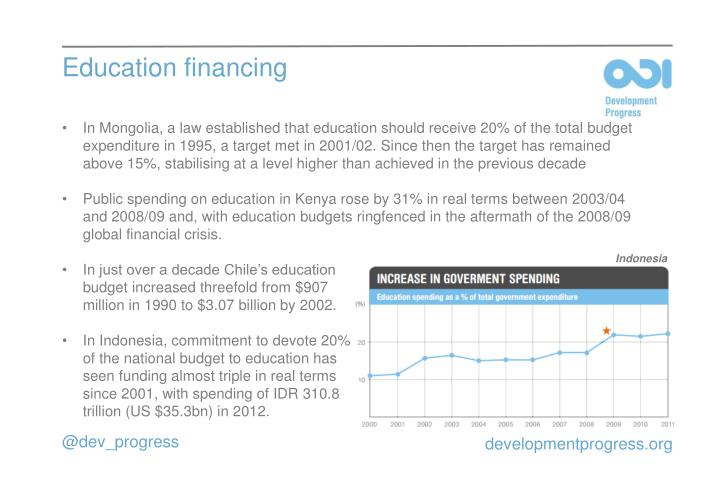 Education financing