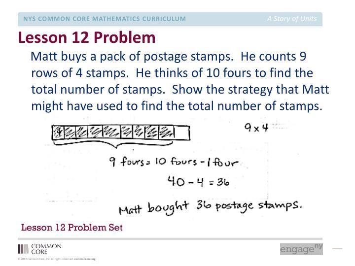 Lesson 12 Problem