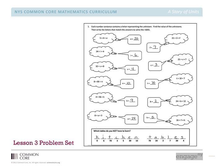 Lesson 3 Problem Set