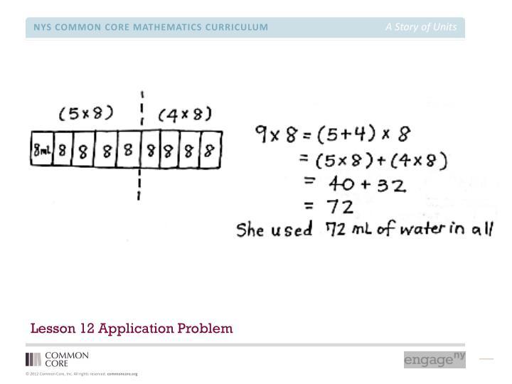 Lesson 12 Application Problem