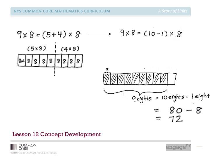 Lesson 12 Concept Development