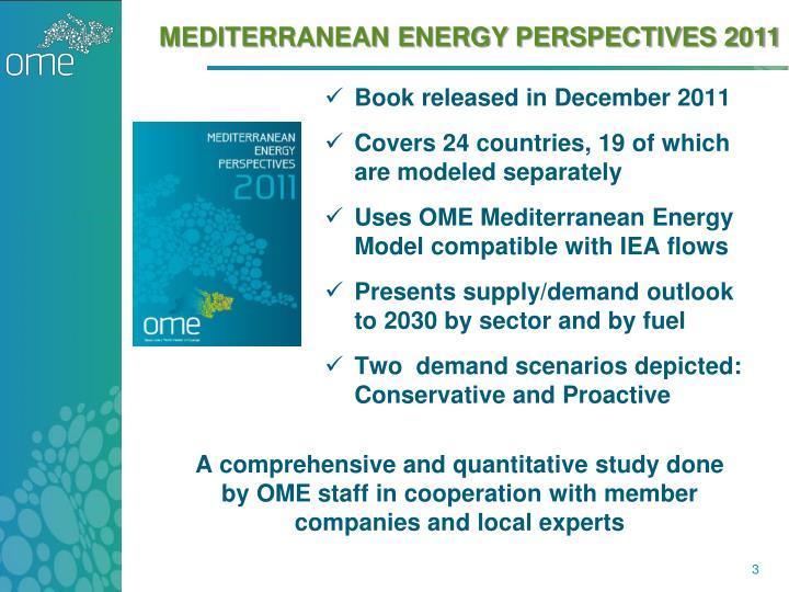 Mediterranean Energy PERSPECTIVES 2011