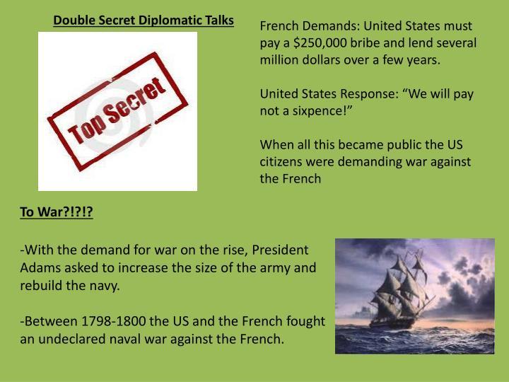Double Secret Diplomatic Talks