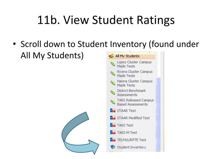 11b. View Student Ratings