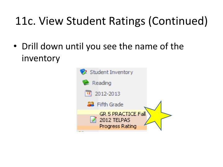 11c. View Student Ratings (Continued)