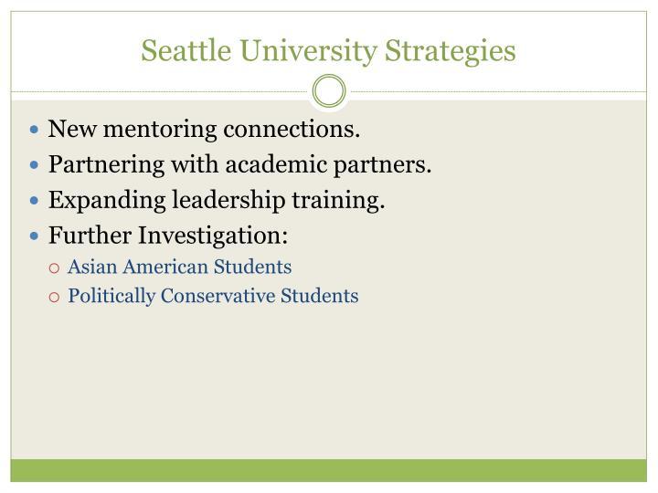 Seattle University Strategies