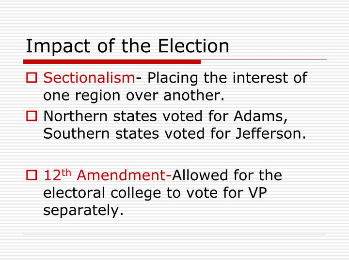 Impact of the Election