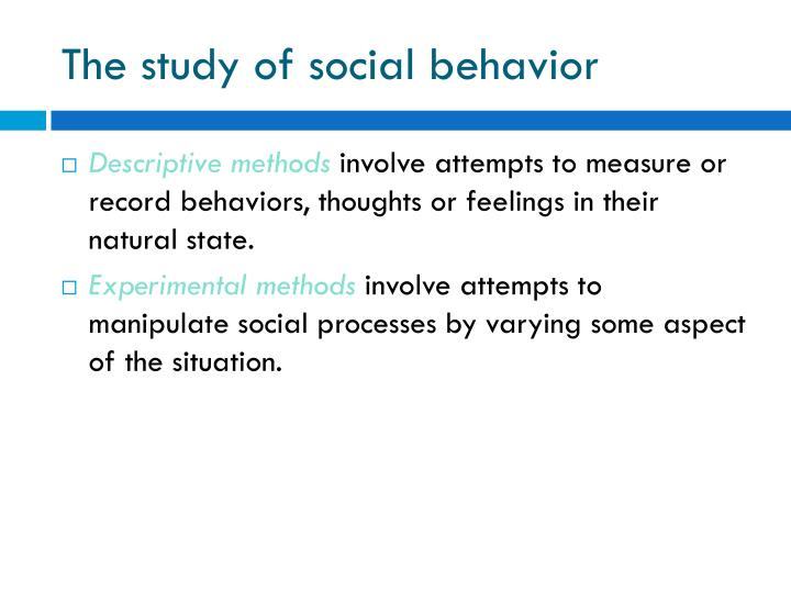The study of social behavior