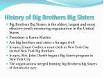 history of big brothers big sisters