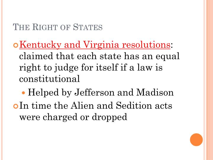 The Right of States