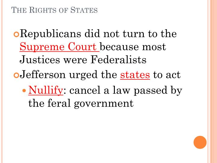 The Rights of States