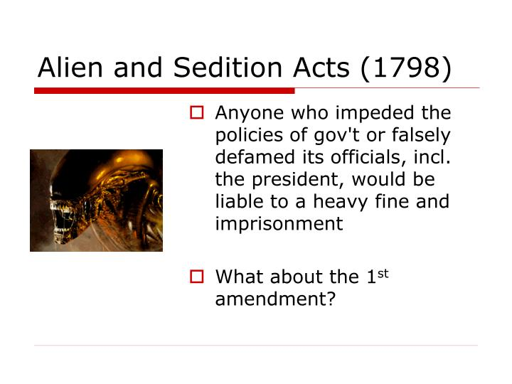 Alien and Sedition Acts (1798)