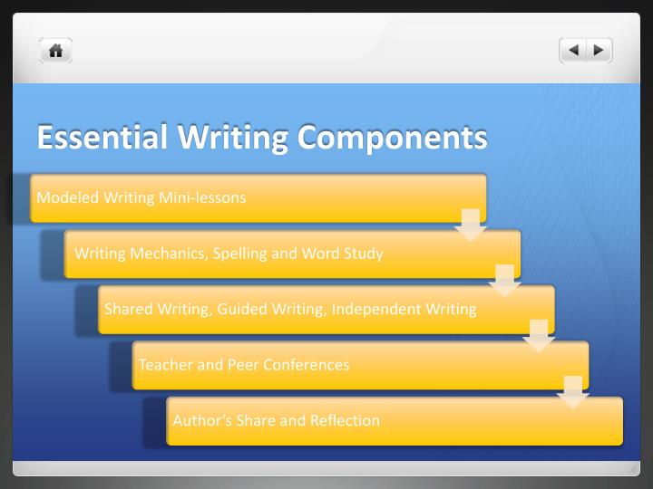 Essential Writing Components