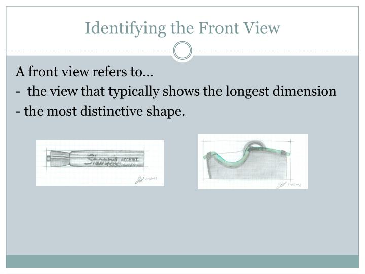 Identifying the Front View