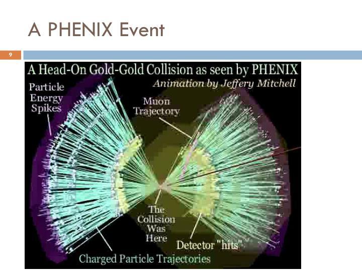 A PHENIX Event