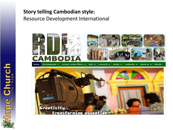 Story telling Cambodian style: