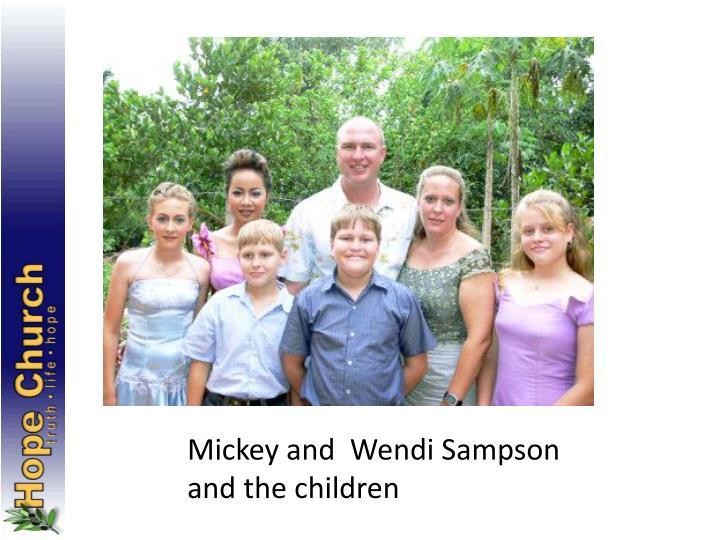 Mickey and  Wendi Sampson