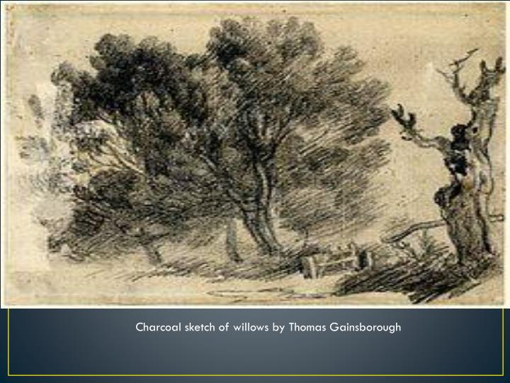 Charcoal sketch of willows byThomas Gainsborough