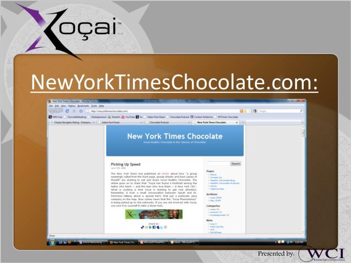 NewYorkTimesChocolate.com: