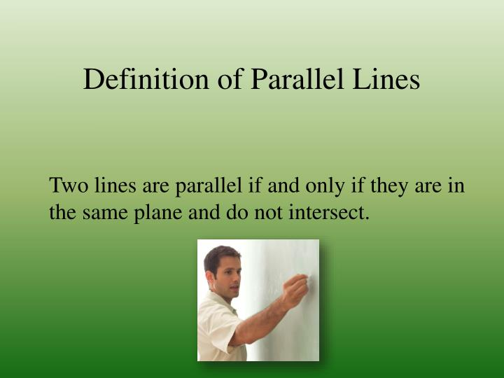 Definition of Parallel Lines