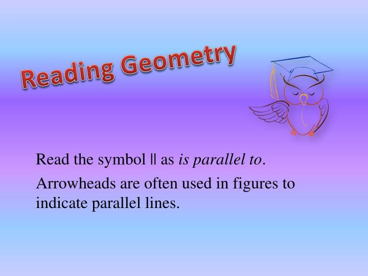 Reading Geometry