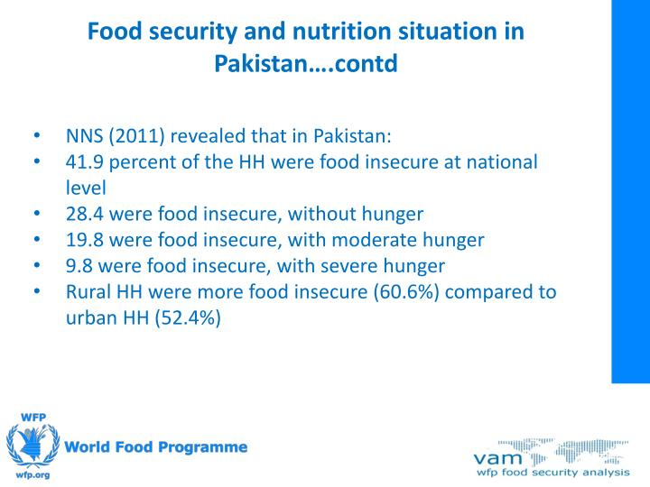Food security and nutrition situation in Pakistan….