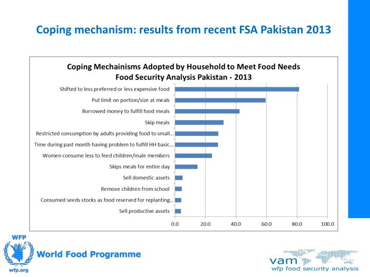 Coping mechanism: results from recent FSA Pakistan 2013