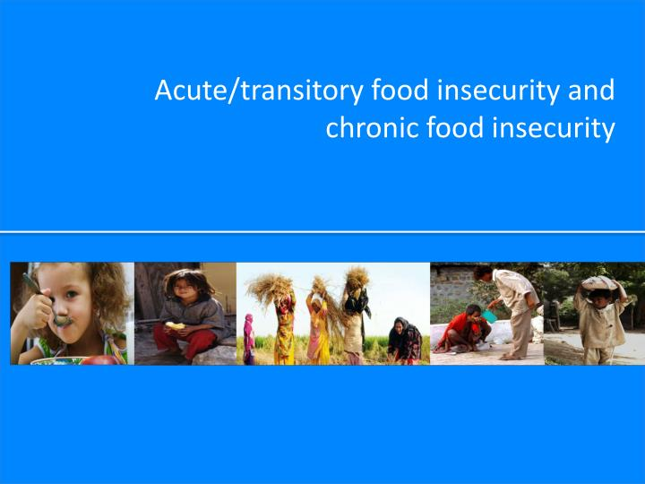 Acute/transitory food insecurity and chronic food insecurity