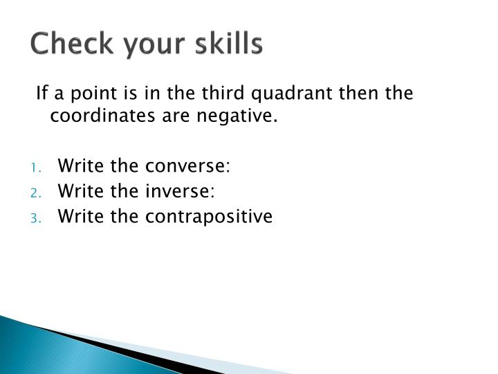 Check your skills