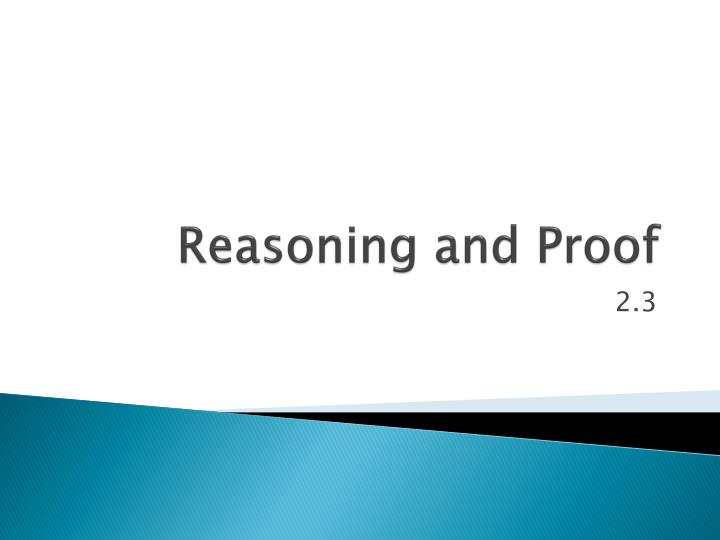reasoning and proof