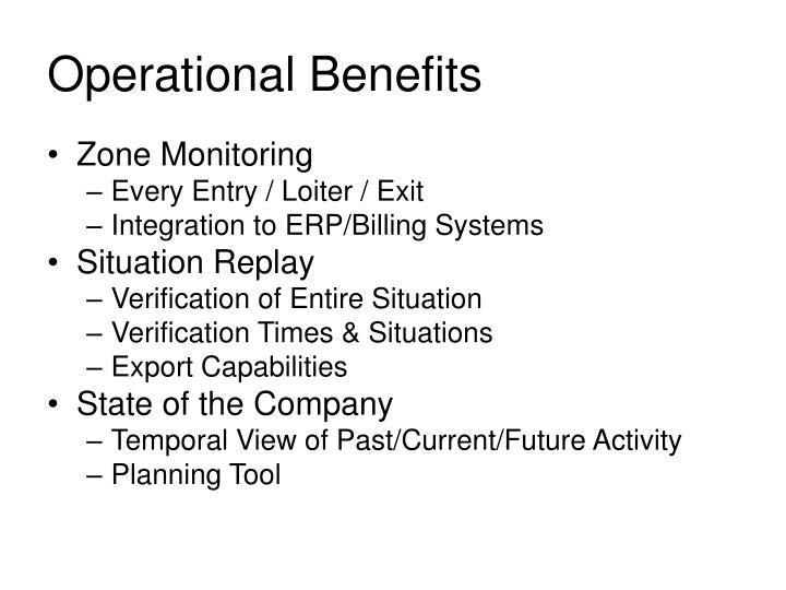 Operational Benefits