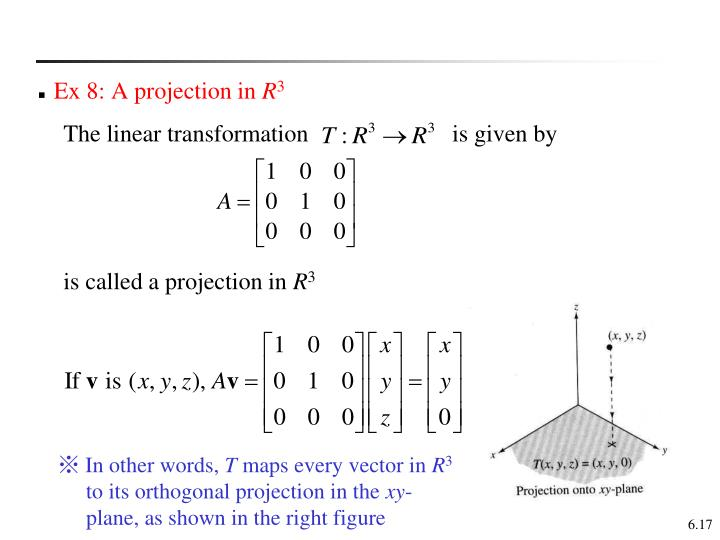 Ex 8: A projection in