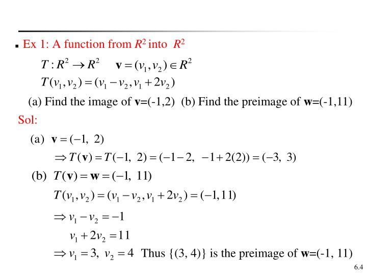 Ex 1: A function from