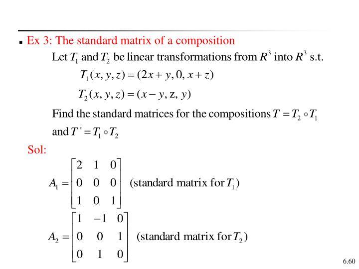 Ex 3: The standard matrix of a composition