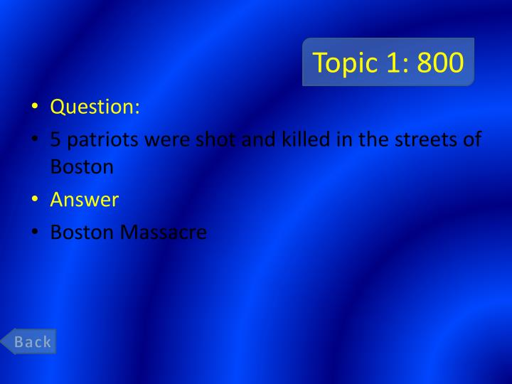Topic 1: 800