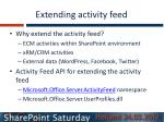 extending activity feed