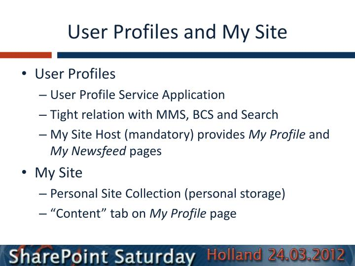 User Profiles and My Site