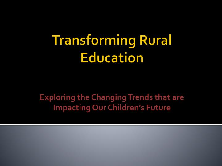 Exploring the Changing Trends that are Impacting Our Children's Future