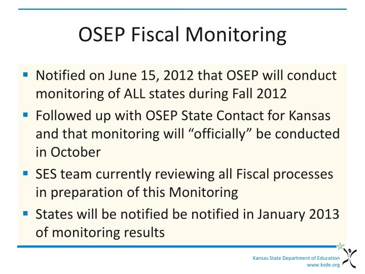 OSEP Fiscal Monitoring
