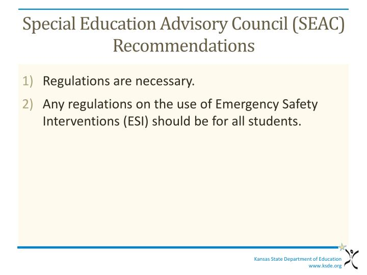 Special Education Advisory Council (SEAC)