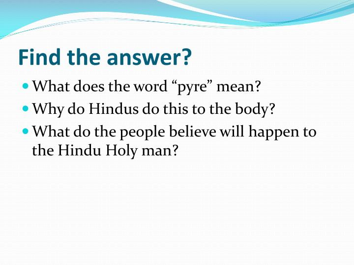 Find the answer?