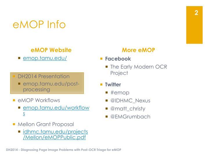 eMOP Info