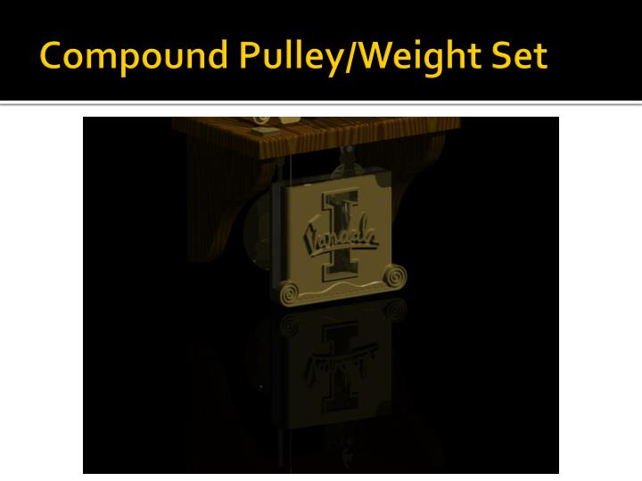 Compound Pulley/Weight Set