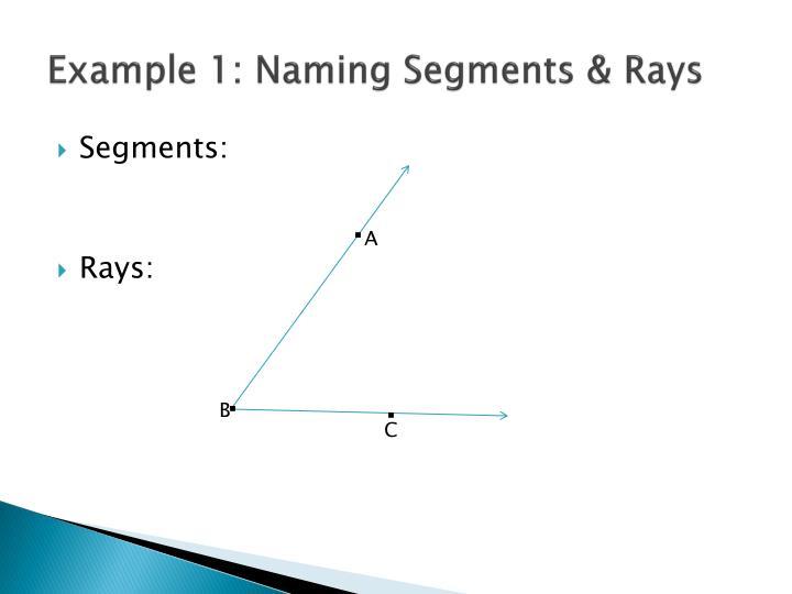 Example 1: Naming Segments & Rays