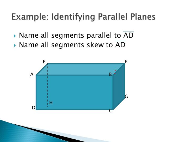 Example: Identifying Parallel Planes